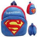 Novo Superman character design bonito dos desenhos animados da escola dos miúdos bolsas crianças mochila meninos meninas Superman Returns plush macio mini sacos