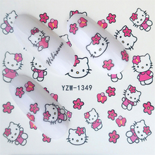 Hello Kitty  Mickey Mouse Decals Stickers Wrap Nails Cartoon Cute Nail Sticker Tips Decoration Nail Art Water Transfer Sticker diy water transfer foils nail art sticker fashion nails cartoon harajuku sailor moon decals minx nail decorations