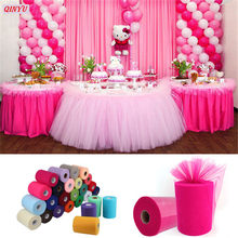 22mX15cm Tulle Roll Spool Tutu Gift Wrap Wedding Table Runner Decoration Birthday Party Baby Shower Event