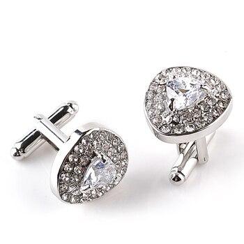 Luxury Cufflinks Men's  Zircon Black /Purple Crystal Cufflinks 3