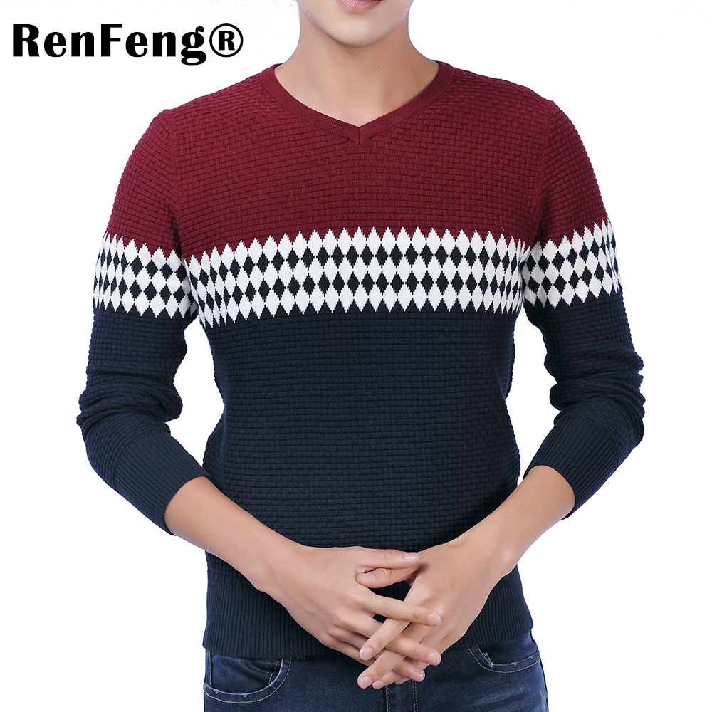 2018 New Autumn Fashion Brand Casual Sweater O-Neck Striped Slim Fit Knitting Mens Sweaters Pullovers Geometric Men Pullover Men (4)