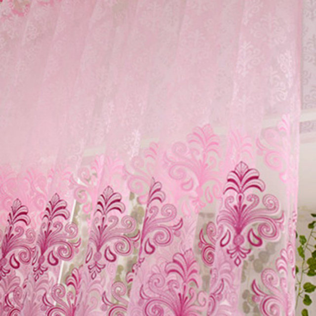 Incroyable New Pink Floral Voile Door Curtain Window Room Scarf Sheer Valance Voile  Door Curtains Home Decor
