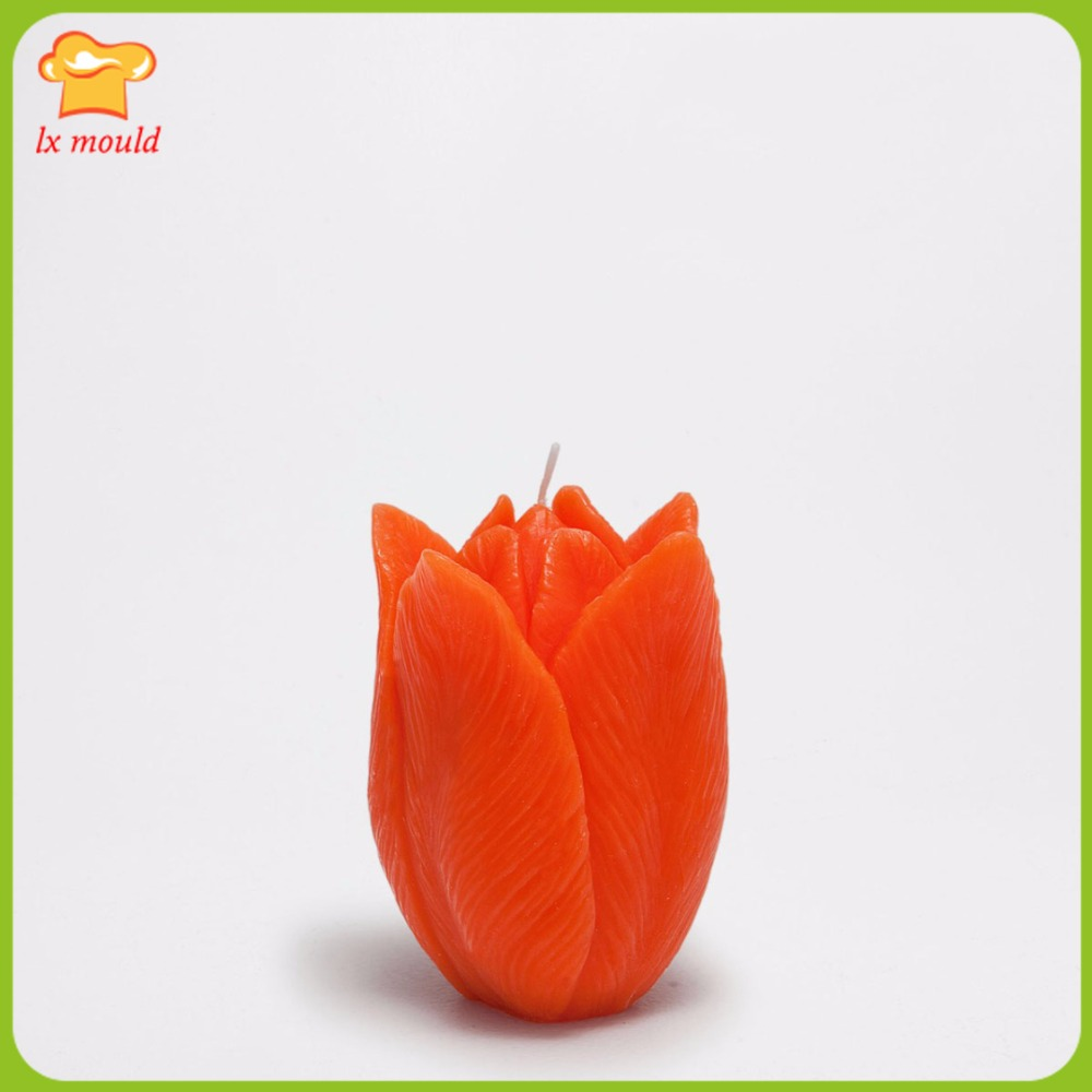 LX Mold New Tulip Decorative Candle Silicone Mold Handmade Soap Mold Candle Tool