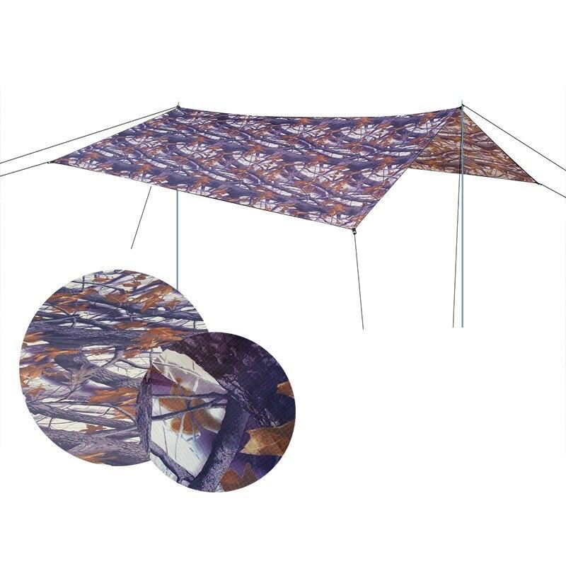 Ultralarge imperméable à l'eau 5-8 bâche auvent tente UV plage personne Camouflage grand Camping abri Protection de survie soleil