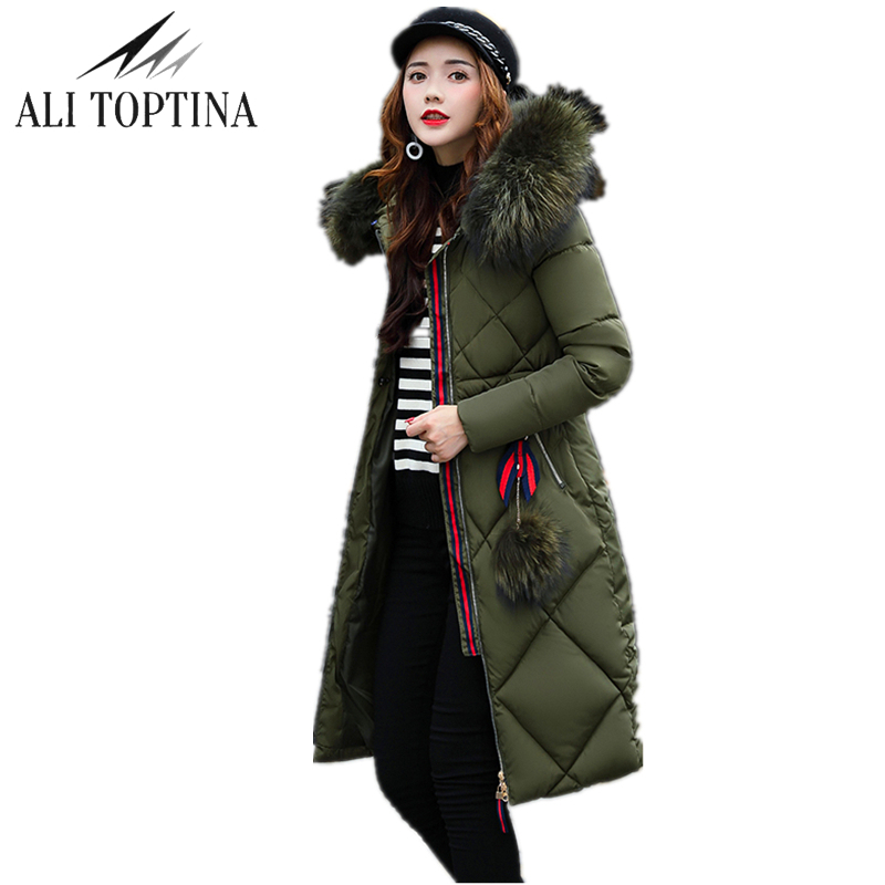 ALI TOPTINA Winter Coats Woman 2017 Heavy Long Thickening Cotton-padded Cotton Winter Jacket Parka Jaqueta Feminina Inverno Mf04  naim fraimlite level long cherry ali