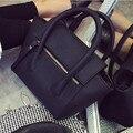 2016 La nueva mujer del bolso de mano bolso de Las Mujeres negro retro simple litchi patrón de hombro bolsa de Mensajero bolsa feminina bolsos de mujer