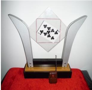 Cadre de carte TV-télécommande-Deluxe By China Magic, carte en verre, tour de magie, Illusions, accessoires de magie de scène, amusement, spectacle de magie