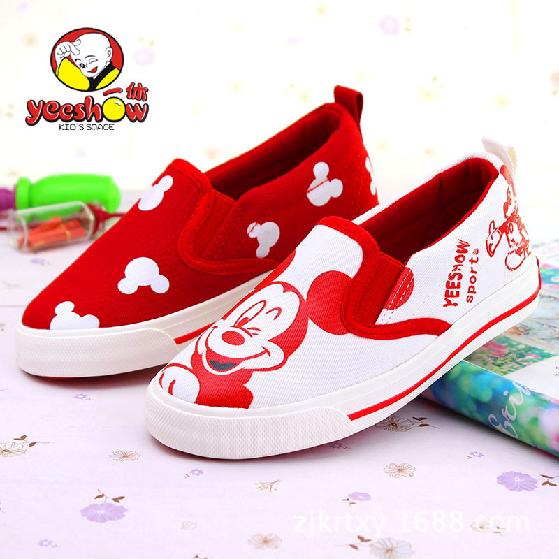 YEESHOW 2015New Canvas Sneakers Mickey Children Shoes For Girls Shoes Wearable Kids Shoes Boys Shoes For