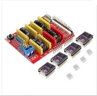 DuoWeiSi 3D Printer Parts CNC Shield 4 X DRV8825 Driver Kit For Arduino 3D Printer