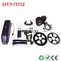 EU US free taxes AFANG BBS02B 36V 500W central motor kits with 36V 15Ah USB hailong down tube battery pack for mountain bike