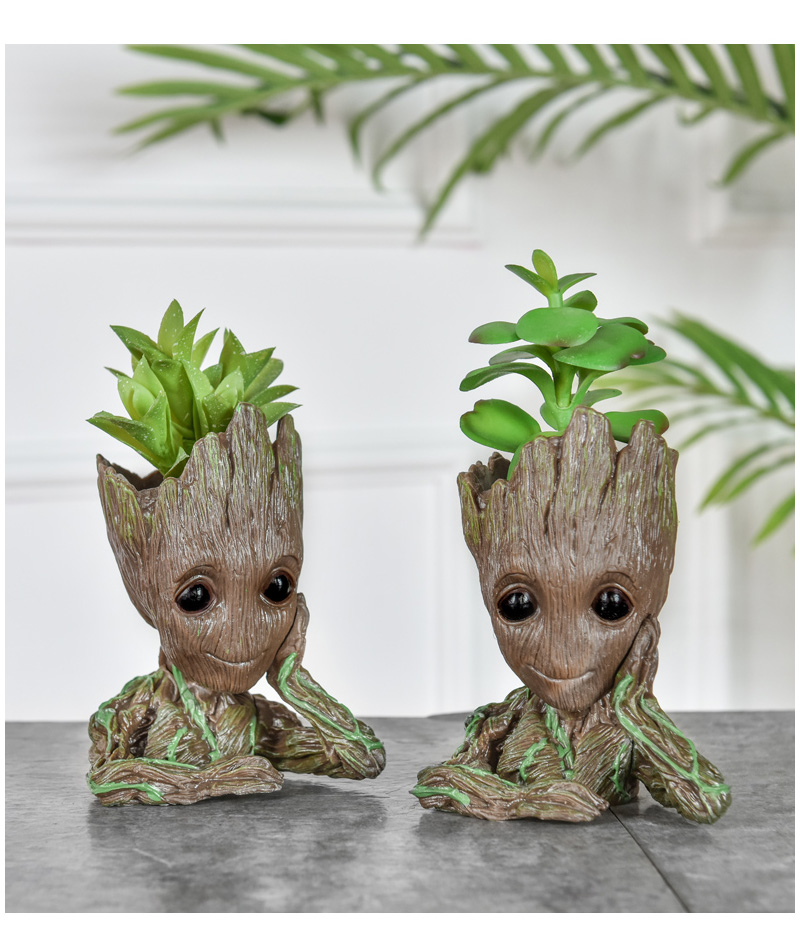Baby Groot Flower Pot Suitable for Living Room Bed Room and study Room for Full Greenery in House 9