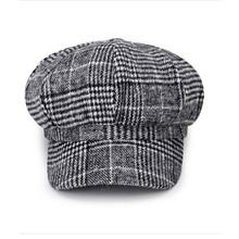 New Newsboy Caps Casual Lady Berets Wool Plaid Newsboy Cap Student Wild Octagon hats Retro Hat
