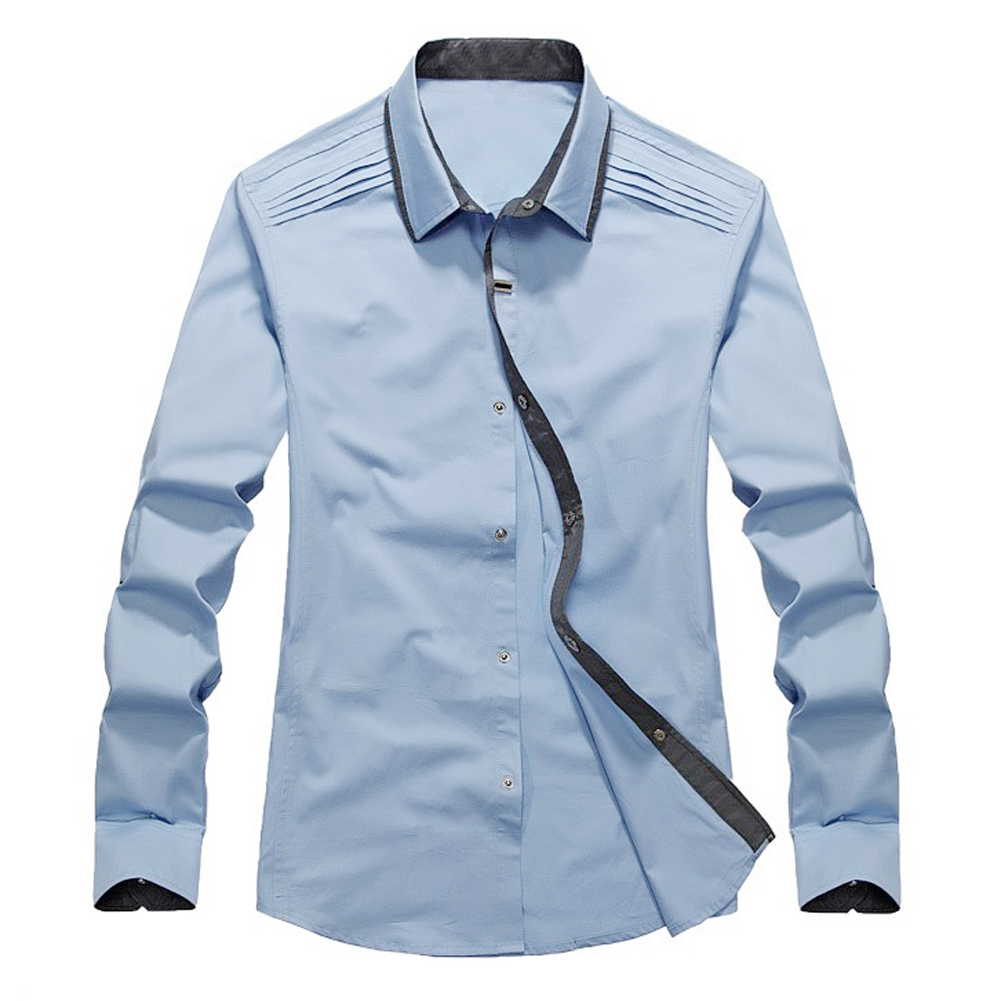 New Spring Autumn Cotton Dress Shirts High Quality Mens