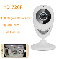 BabyKam Wireless IP Camera Wi Fi FishEye 720P 180 Degree Mini CCTV VR Camera 1 0MP