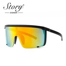 STORY Fashion Visor Sunglasses Women Brand Designer Oversize