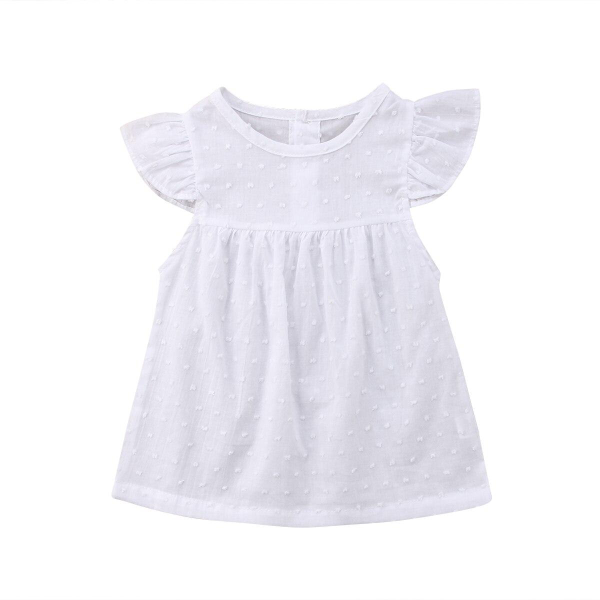 6d12473c3 Pudcoco blanco princesa Tutu vestido de bebé niñas de manga corta vestidos  de verano Praty cumpleaños