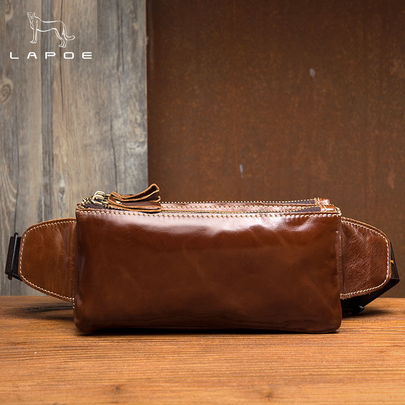 High Quality Genuine Leather Men Waist Pack Casual Bum Hip Bag Belt Phone Bag Case Fanny Pack For Women Men Travel Waist Bag i4 bk l protective leather waist belt bag case for iphone 4s 4 black