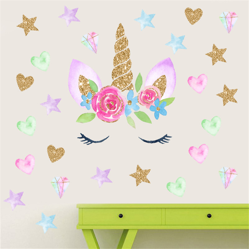 3d butterfly wall stckers wall decors wall art wall.htm 3d colorful flower animal unicorn wall stickers for girls baby  3d colorful flower animal unicorn wall