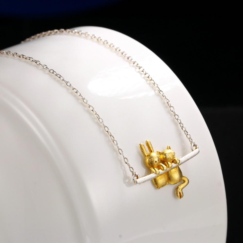 MoBuy Drahtziehen Gelb Gold Kaninchen 100% 925 Sterling Silber ...