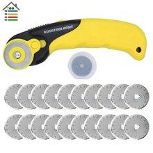 28mm Rotary Cutter Set 20PC Blades Fit Olfa Dafa Fiskars Fabric Paper Circular Cut Patchwork Craft Leather Sewing Tools