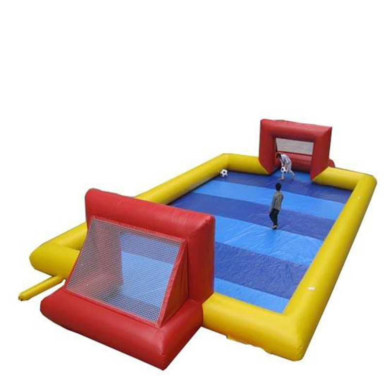 Customized large inflatable football pitch for sale