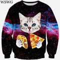 2017 new fashion women/men 3d sweatshirt printed cat/pizza/tiger sweatshirts womens harajuku galaxy hoodies clothes 60311