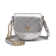 New Style Fashion Women Leather Ladies Handbags Chain Gold Heart Love Bag Crossbody Shoulder Plaid  Valentine Gift
