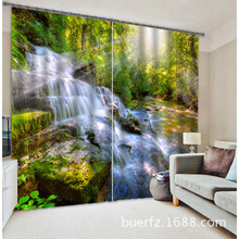 2017 Modern Blackout Window Curtain Forest Creek 3D Curtains For Bedding room Living room Hotel Drapes
