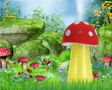 Cartoon USB mini mushroom lights atomizer humidifier household humidifier Touch switch Nightlight