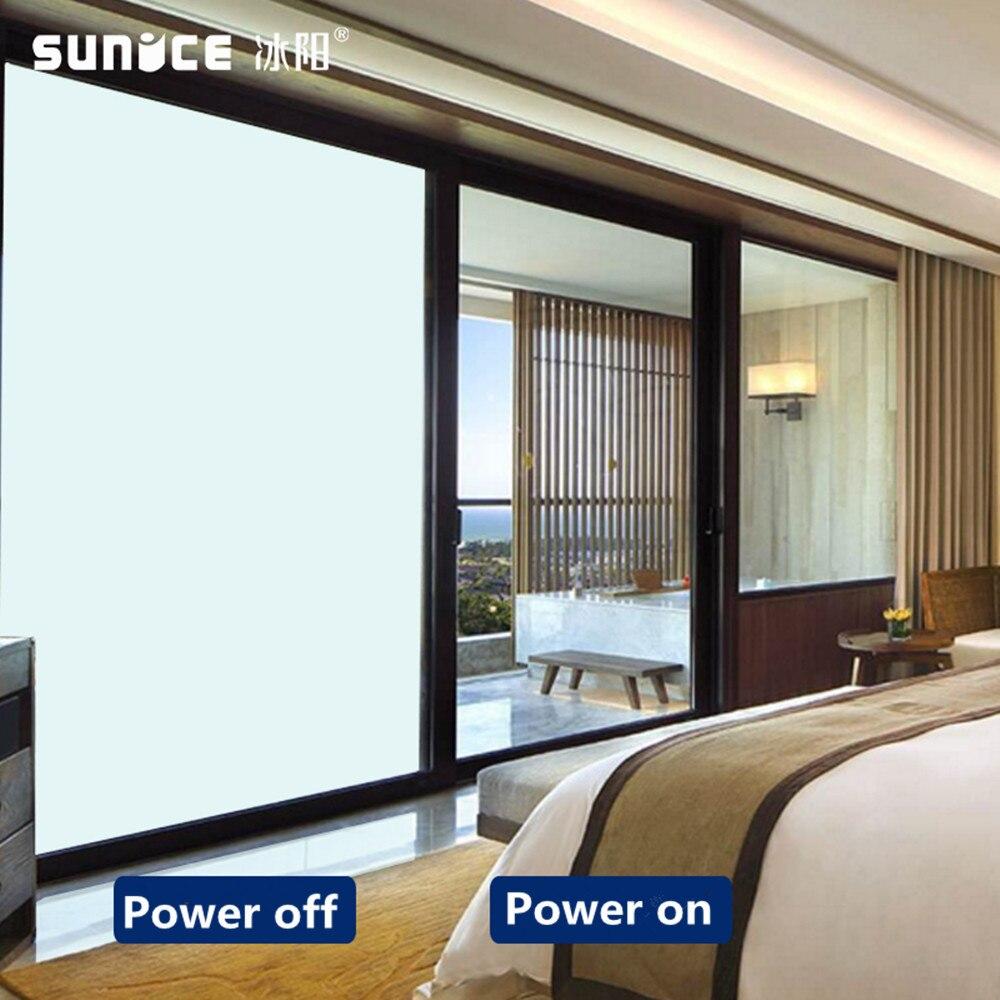 SUNICE commutable magique Smart Film pdlc contrôle de puissance fenêtre autocollant couleur blanche 0.9x2 m deux pièces personnalisé