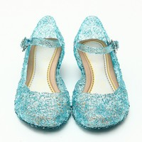 2017 Baby Shoes Girls Sandals Anna Elsa Kids Baby Shoes Elsa Princess And Cosplay Shoes Party