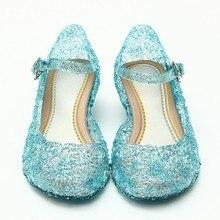 2018 детская обувь для девочек сандалии Анна и Эльза детская обувь Эльза Принцесса и косплей вечерние для и удобные бесплатная доставка 945