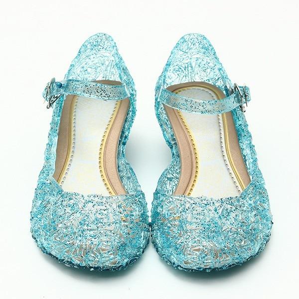 2018 sapatos de bebê meninas sandálias sapatos princesa elsa e anna & elsa Crianças bebê sapatos cosplay partido e Confortável livre grátis 945