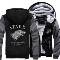 2018 Winter Fleece Thicken Sweatshirt Men Brand High Quality Jackets Coat Men's Sweatshirt Game of Thrones House Stark Hot Hoody