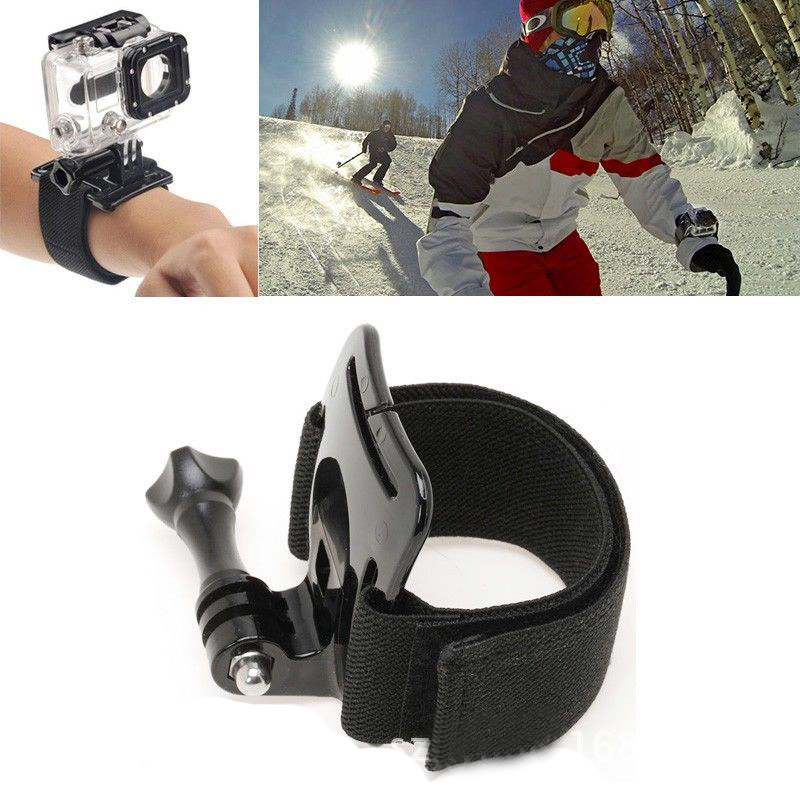 HAOBA Adjustable Tape Arm Mount Wrist Band Screw Mount Action Ourdoor Sport Camera Strap For Gopro Hero 5+ 5 4 3 2 Accessories