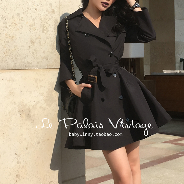 Vintage black trench coat