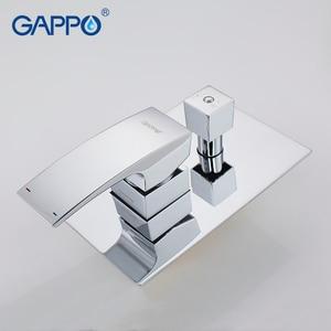 Image 5 - Gappo torneira do chuveiro do banheiro torneiras misturador banho de massagem cabeças de chuveiro cachoeira sistema misturador do chuveiro torneira conjunto