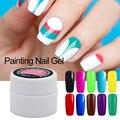 12 Acrílico Colorido Bio Gel Vernis 1 unids Pintura Esmalte de Uñas de Gel Nail Art Pintura Dibujado Glitter Gel Semi-Permanente barniz