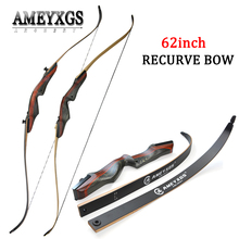 62inch Archery Recurve Bow Draw weight 20-50lbs Right Hand Takedown Hunting Bow Longbow For Outdoor Hunting Shooting Training 20 50 customized archery traditional yuan special bamboobark 3k carbon laminated bow longbow for outdoor hunting shooting
