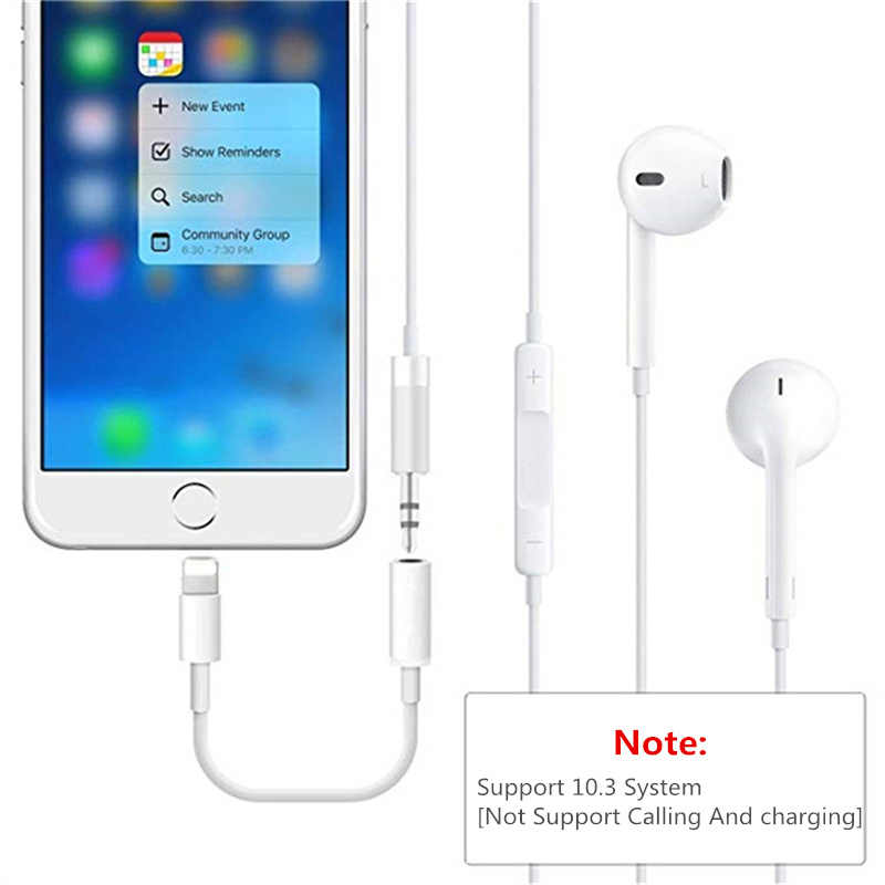 timeless design 79f49 5515d To 3.5mm Headphone Jack Audio Adapter For iPhone XS XsMax XR X 7 8 Plus  Lighting Aux Play Music Earphone Cable Converter Adapter
