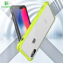 FLOVEME Anti-knock Phone Case For iPhone X Soft Silicone Frame Hard PC Back Cove