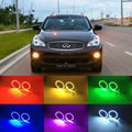 Для Infiniti QX50 2013 2014 2015 2016 Отлично Angel Eyes комплект Multi-Color Ultrabright 7 Цветов RGB LED Angel Eyes Halo кольцо