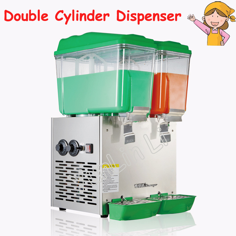 30L Double Cylinder Dispenser Cold and Hot Drink Machine Beverage Dispenser Juice Dispenser for Milk Tea Shop PL-230C free shipping cold drink dispenser slush machine sparying juicer ice beverage dispenser for sale