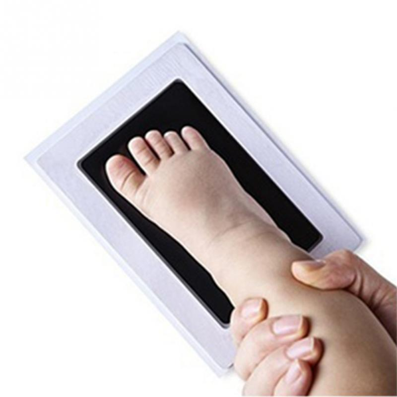 Baby Handprint Footprint Photo Frame Kit With An Included Clean-touch Ink Pad