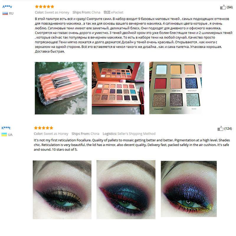 Focallure Merek Eyeshadow Palet 18 Warna Tahan Lama Glitter Pigmen Tahan Air Mudah untuk Memakai Eye Shadow Shimmer Make Up