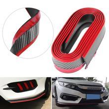 М 2,5 м Универсальный Автомобильный бампер для салона автомобиля передний разветвитель для губ внешний передний бампер для губ комплект автомобиля-Стайлинг