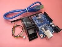 1set FPM10A Fingerprint Module For Optical Fingerprint Sensor 1pcs UNO R3 MEGA328P With Usb Cable
