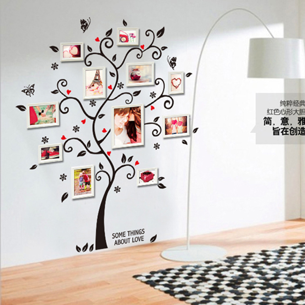 DIY Family Art Photo Frame Tree Wall Sticker Home Decor Living Room Bedroom Wall Decals Poster Home Decoration Wallpaper