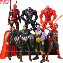 Hasbro Marvel Avengers 7pcs extraordinary Spider-Man Captain America tyrants venom hand doll model ornaments toy