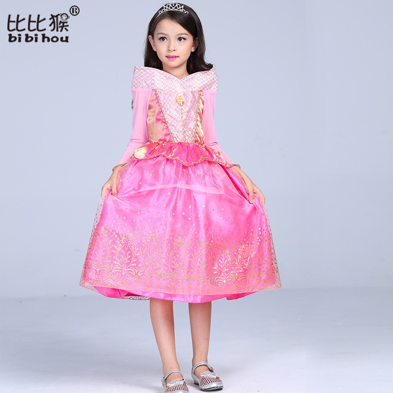 2018 New Girl Princess Dresses Baby Kids Cinderella Ball Gown Gold ...